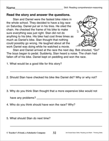 The City School: English Grade 3 Revision Worksheets