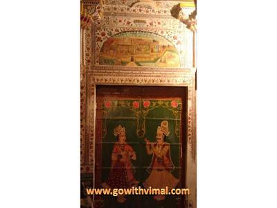 Bhandasar jain temple wall painting