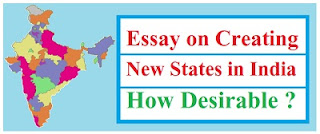 Creating New States in India
