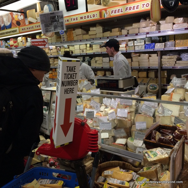 cheese counter at Zabar's deli in NYC