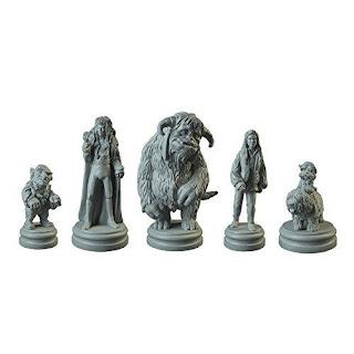 miniaturas de los personajes de  Labyrinth el juego de mesa
