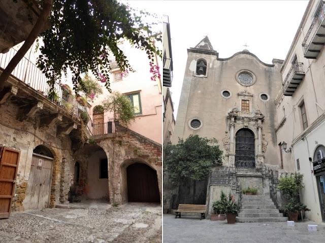 cortile palazzo Pirajno e chiesa Santo Stefano