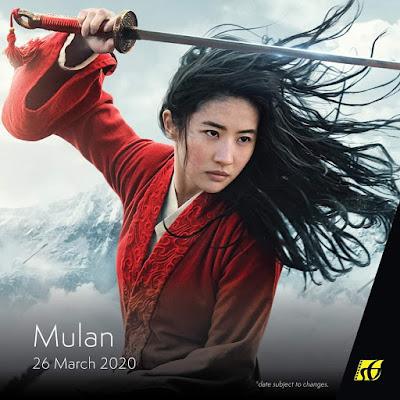 Senarai Filem Yang Akan Keluar di Panggung Wayang Tahun 2020 - Mulan (2020)