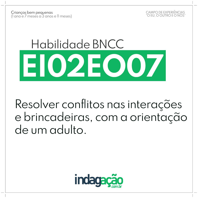 Habilidade EI02EO07 BNCC
