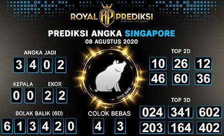 Royal Prediksi SGP Sabtu 08 Agustus 2020