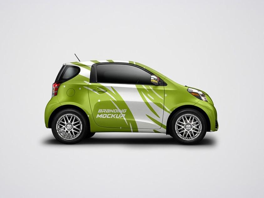 Free Mini Car Mockup PSD