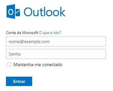 Outlook - Como fazer login