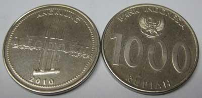 Uang Rp 1000,00 Tahun 2010