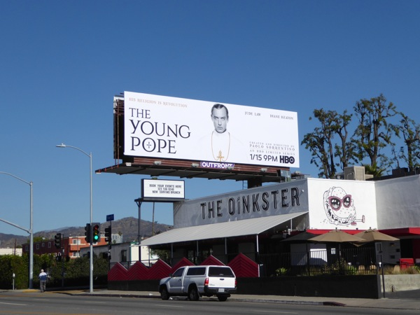 Jude Law Young Pope TV billboard