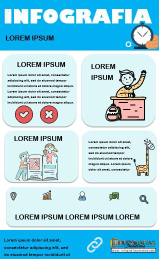 Plantilla para infografía en Word modelo 10