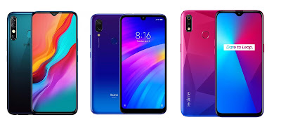 Infinix Hot 8 vs Redmi 7 vs Realme 3i