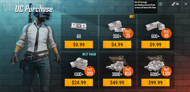 Latest News: How to Purchase UC in Global Version of PUBG Mobile