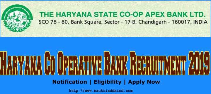 Haryana Co Operative Bank Recruitment