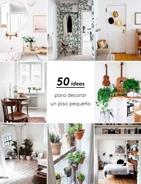 Megapost 50 ideas geniales para decorar un piso peque o Ideas para decorar living departamento