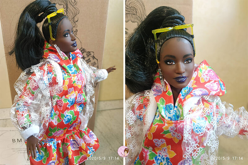 African American Barbie BMR1959 makeup