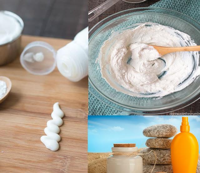 Mélanger ces ingrédients pour préparer une crème solaire naturelle
