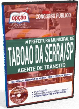 apostila agente de trânsito Prefeitura de Taboão da Serra 2018