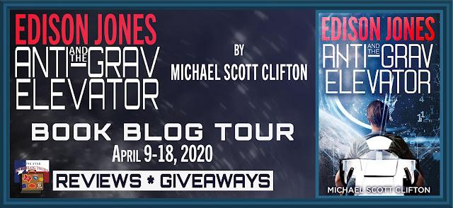 Edison Jones and the Anti-Grav Elevator book blog tour promotion banner
