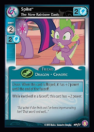 My Little Pony Spike, The New Rainbow Dash Absolute Discord CCG Card