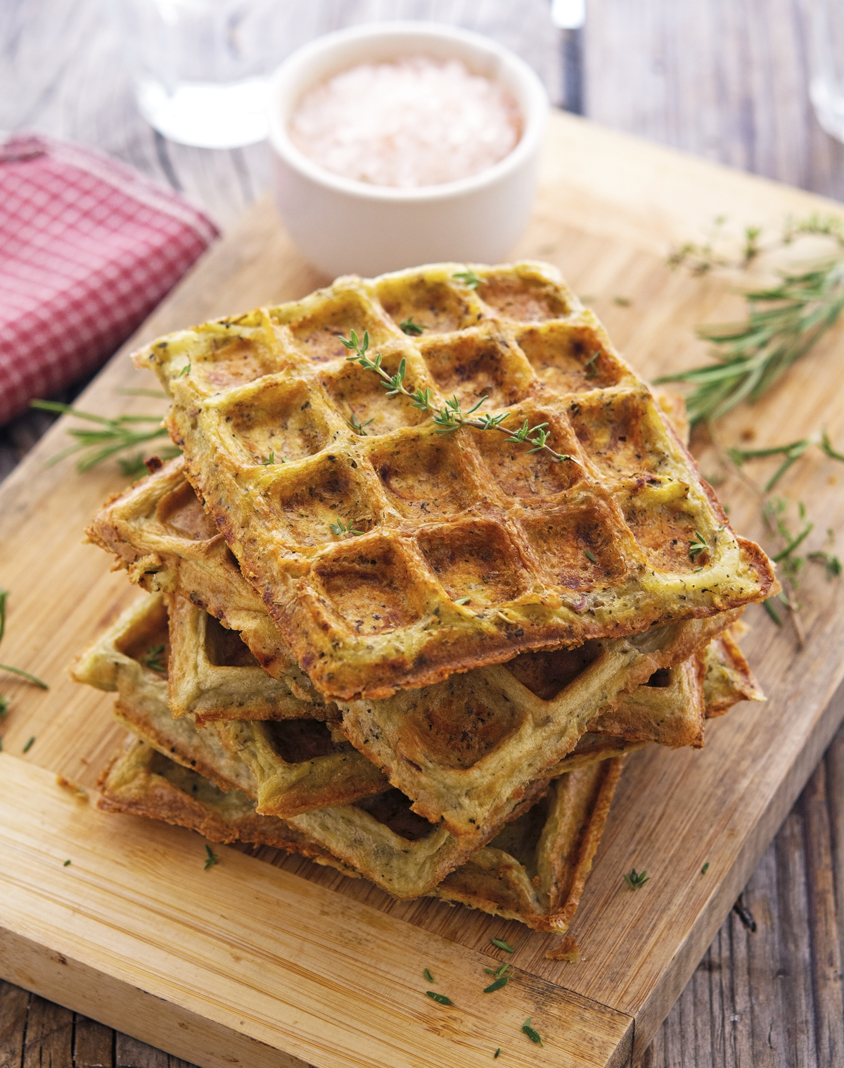(Flourless) Herbed Potato Waffles