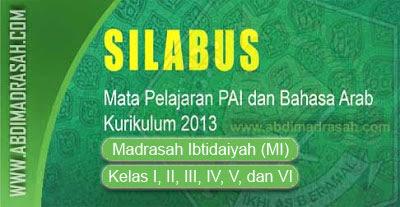 Silabus Kurikulum 2013 Mapel PAI Dan Bahasa Arab Revisi 2016 Untuk Madrasah Ibtidaiyah