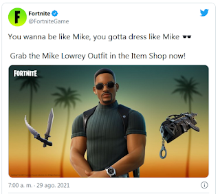 Mike lowrey fortnite, Fortnite officially adds Will Smith Bad Boys skin
