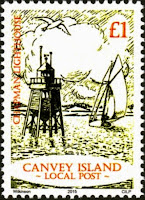 Canvey Local Post Lighthouse and Yacht Stamp