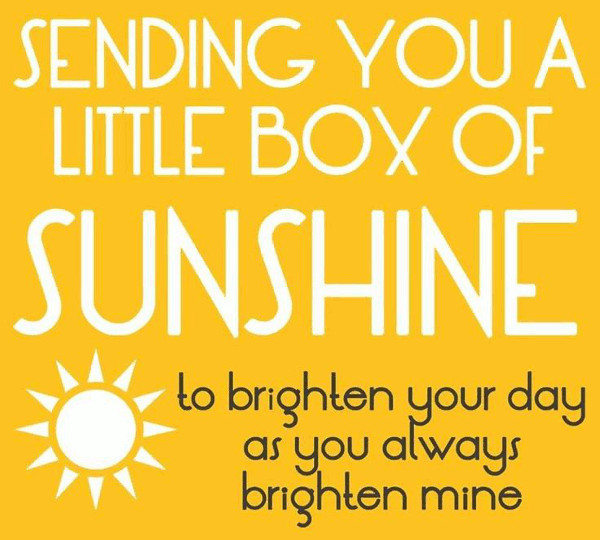 sending you a little box of sunshine