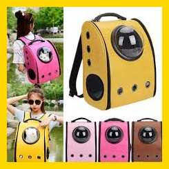 Dog Cat Pet Astronaut Capsule Carrier Backpack Holds five stars