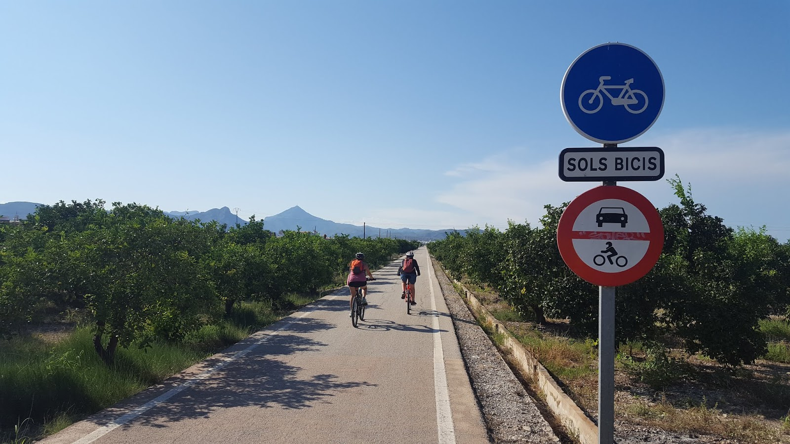 Cycling in Valencia - Cyclists on La Safor Via Verde