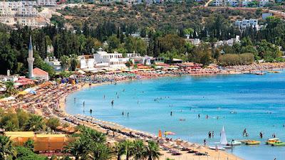 Panorama Pantai Bitez Beach Bodrum Turki