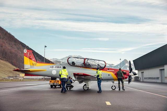 Spanish Pilatus PC21 first flight