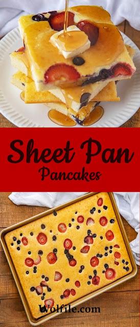 Sheet Pan Pancakes Recipe #Pancake