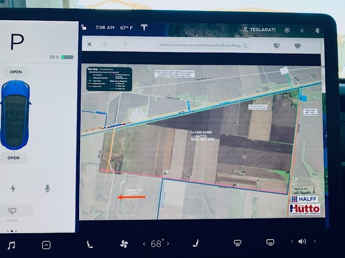 Tesla Terafactory aparece en los mapas de navegación de Tesla