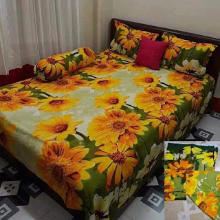Cotton Bed Sheet With Matching 2 Pillow Covers King Size