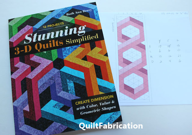 3D quilt book and 3d hexagon table runner pattern