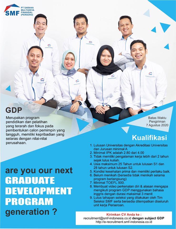 Lowongan Kerja BUMN PT Sarana Multigriya Finansial (Persero) Agustus 2020