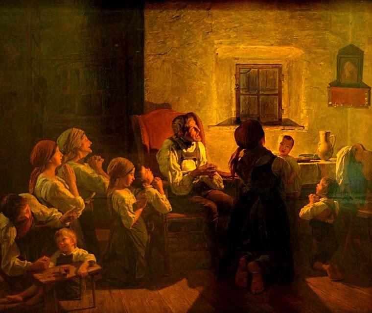 Oração familiar da noite, Ferdinand Georg Waldmüller (1793 – 1865)