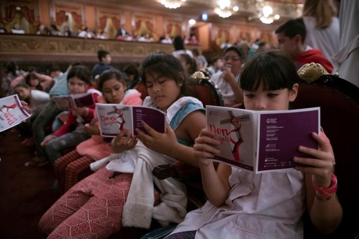 Más de 5400 chicos disfrutaron de Don Quijote interpretado por el Ballet Estable del Teatro Colón
