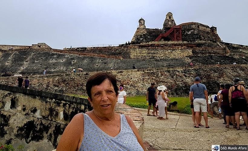 Mamis no Castelo de San Felipe de Barajas, Cartagena na Colômbia