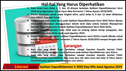 Aplikasi Dapodikdasmen V 2020 Siap Rilis Awal Agustus 2019