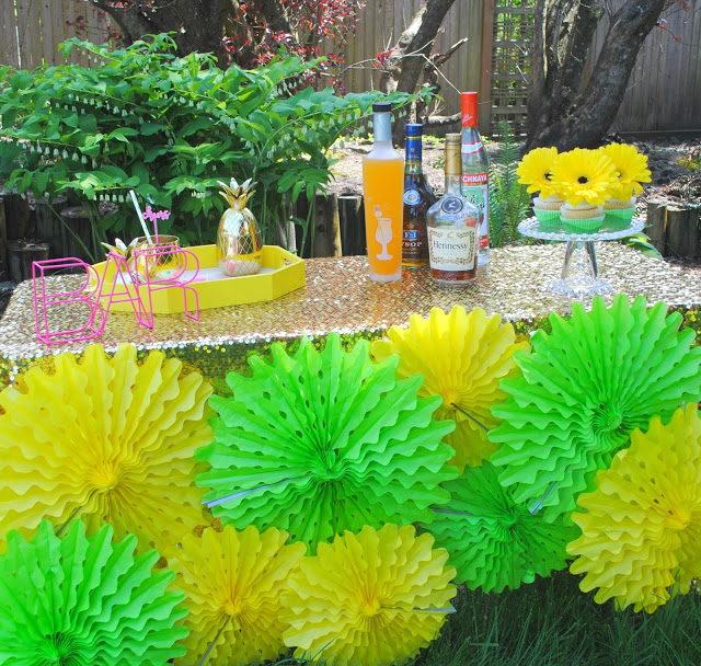 Mother's Day tropical cocktail party styled by Fizzy Party