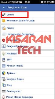 Menghapus Akun FB Di Facebook Lite