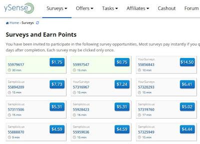 Ganar dinero en ySense con encuestas