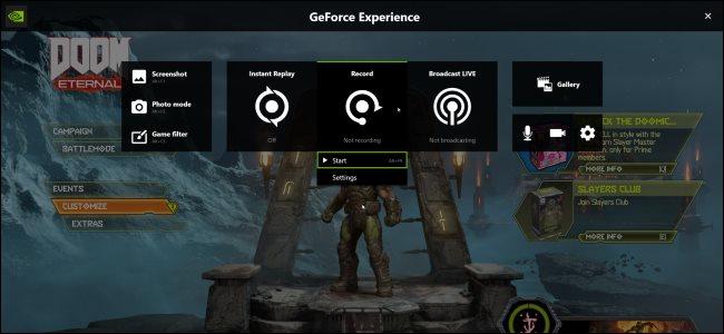 تسجيل Doom Eternal مع NVIDIA ShadowPlay / Share