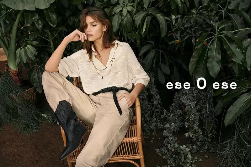 Model Olivia Edit poses for Ese o Ese spring-summer 2020 campaign