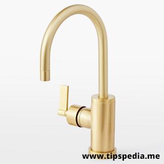 brass bathroom faucet single hole