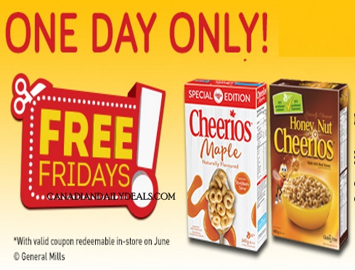 Save.ca Free Friday Maple Cheerios Cereal Coupon