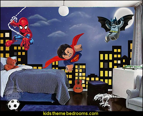 Superheroes Bedroom Ideas   Batman   Spiderman   Superman Decor   Captain  America   Comic Book