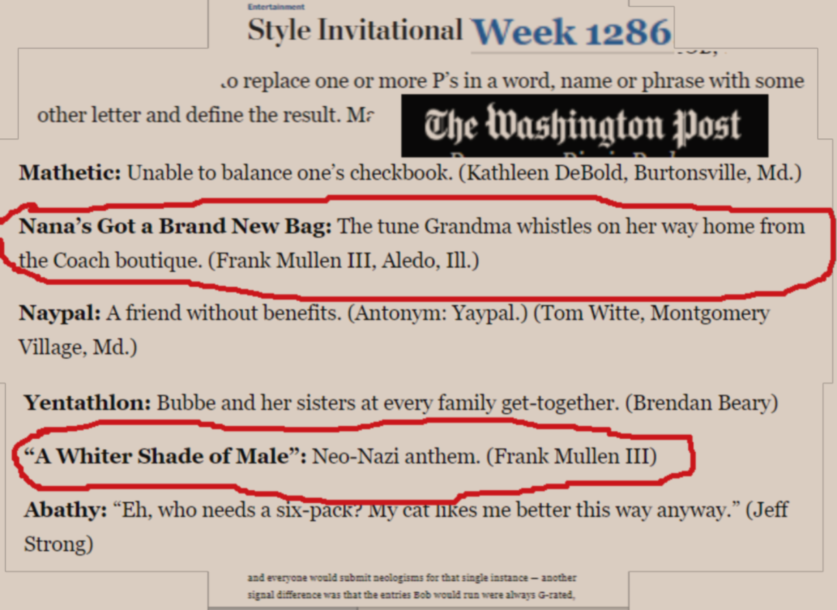 Frank Mullen Iii Back In The Game Washington Post Style